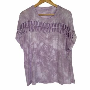 American Eagle Tie Dye Knotted Relaxed Tee TShirt
